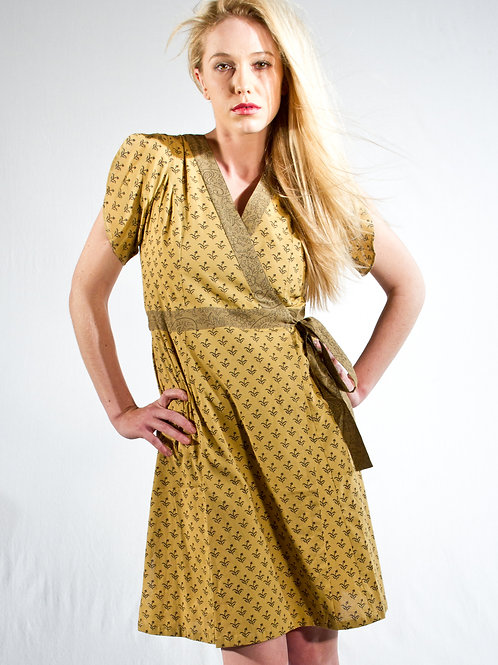 Willow Botanical Dress ~ Citrine