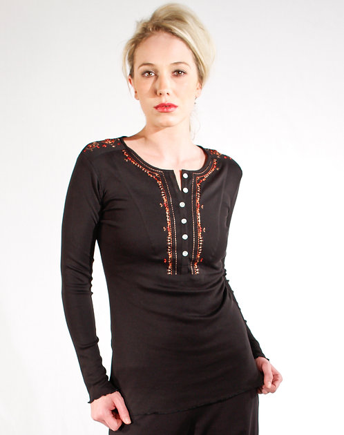 Lucinda Top ~ Ebony