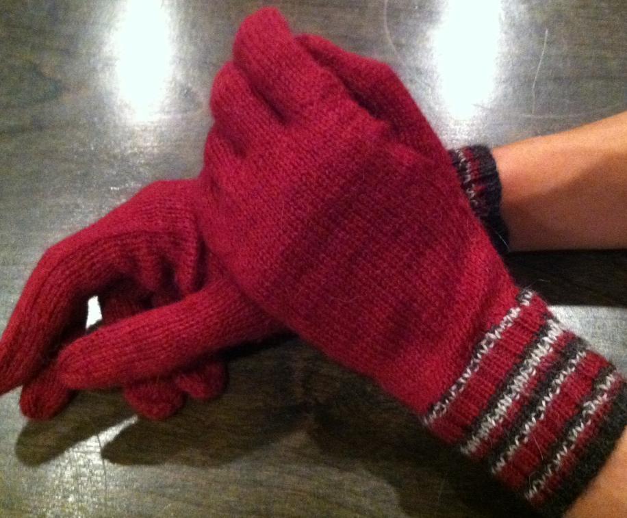 Onix Men's Gloves ~ Wine