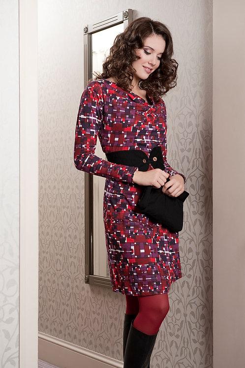 Gracie Dress ~ Plum Mix Print
