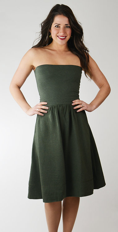 Jitterbug Skirt/Dress ~ Khaki Melange