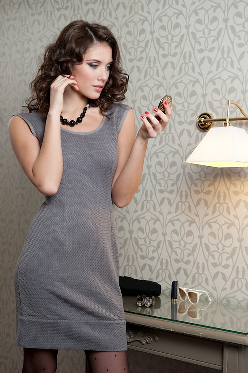 Diva Dress ~ Slate Perle