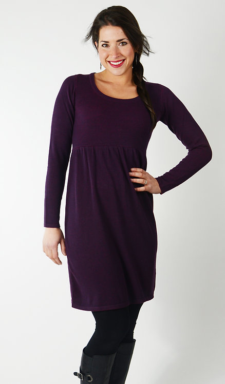 Piaf Dress ~ Plum/Poppy