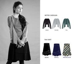 Metro Cardigan & Taxi Skirt