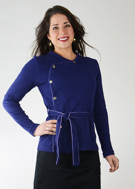 Maya Top/Jacket ~ Indigo
