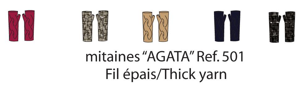 Agata Short Finger-less Gloves