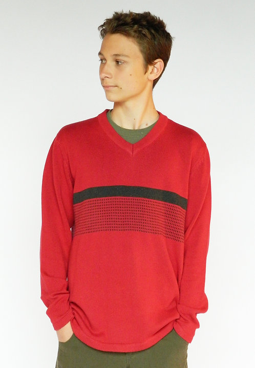 Impala Sweater ~ Red/Slate