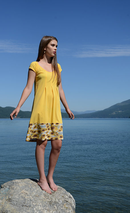 Iberia Dress ~ Daffodil/Sunflower Print