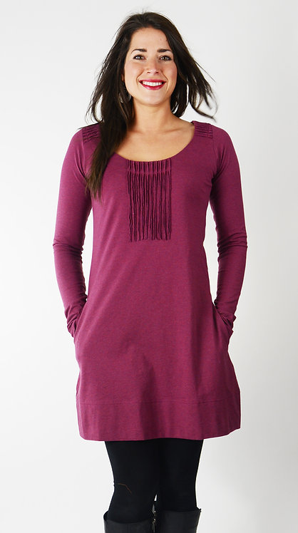 Eterna Tunic Dress ~ Plum Melange