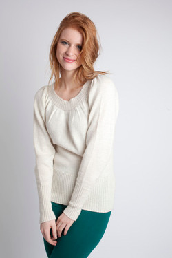 Carina Sweater ~ White