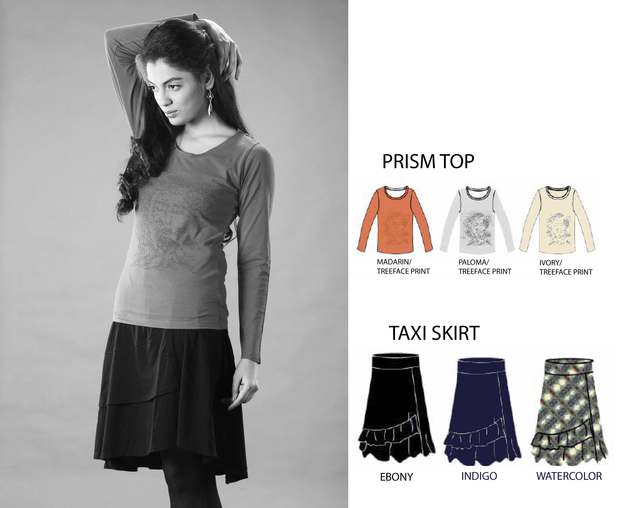 Prisme Top & Taxi Skirt