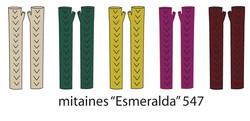 Esmeralda Long Finger-less Gloves