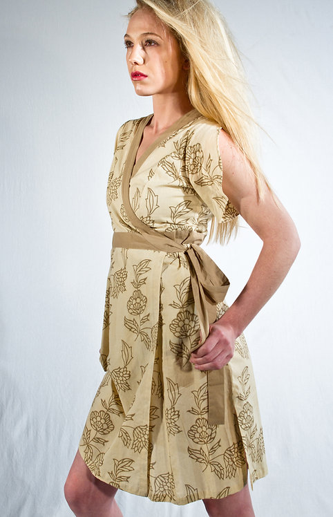 Willow Botanical Dress ~ Coconut