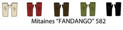 Fandango Short Finger-less Gloves