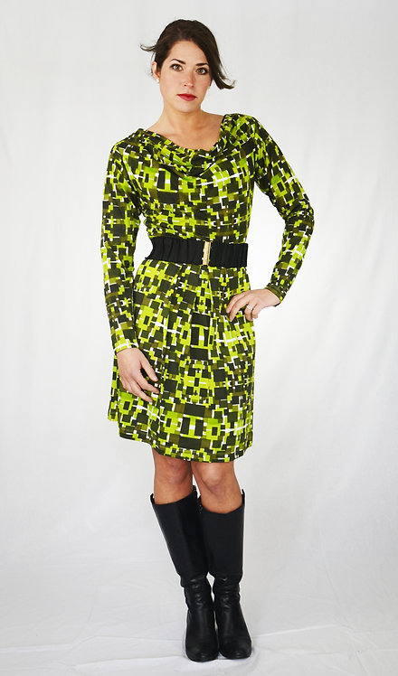 Gracie Dress ~ Green Mix Print