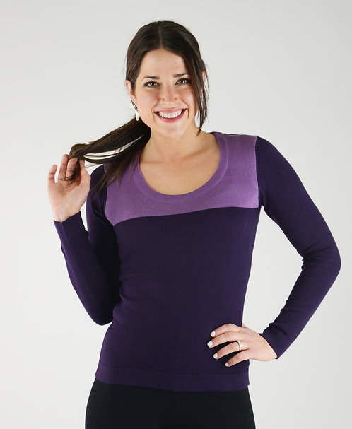 Sybil Sweater ~ Outremer/Plum