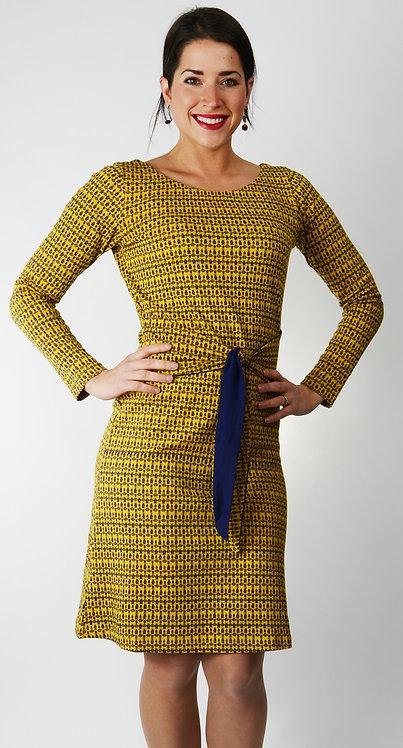 Aileen Dress ~ Baroque Print/Indigo