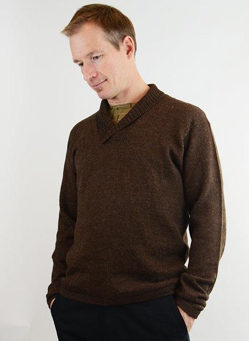 Maestro Alpaca Sweater ~ Beaver