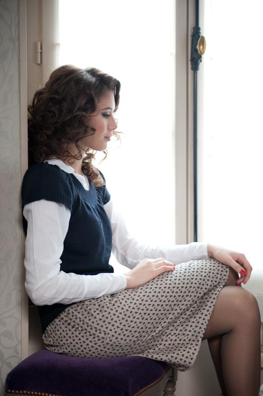 Serena Sweater ~ Midnight Blue