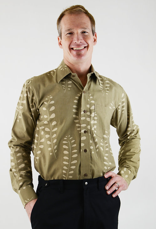 Laurier Botanical Shirt ~ Nut Fern