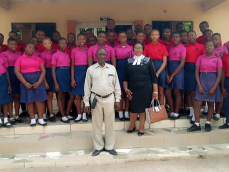 Mrs Chinyere Iyk-Ohaegbulam visits RJBS