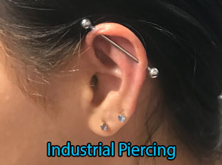 Industrial  Piercing DeVille Ink Baltimore Md Ear piercing Best in Baltimore