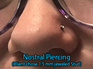 stud jewlery Nostril Piercing DeVille Ink Baltimore Md nose piercing Best in Baltimore