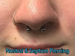 doublr nose piercing septum nostral Piercing DeVille Ink Baltimore Md nose piercing Best in Baltimore
