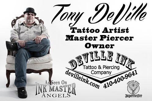 By the hour tattoo session with Tony DeVille