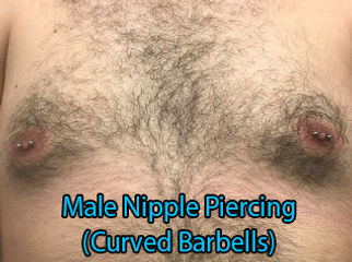 horizontal nipple piercing curved  barbell Piercing DeVille Ink Baltimore Md male nipple piercing horizontal nipple piercing custom jewlery piercing Best in Baltimore