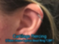 cartilage crb ring Piercing DeVille Ink Baltimore Md Ear piercing Best in Baltimore