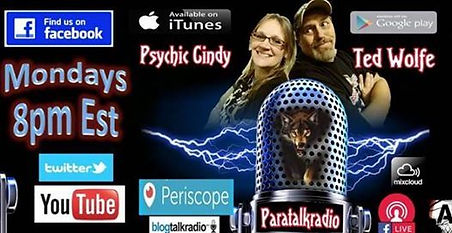 Paratalk radio hosted by Ted and Cindy Paranormal radio