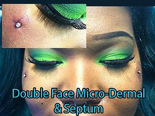 dermal implant face micro dermal Piercing DeVille Ink Baltimore Md piercing Best in Baltimore