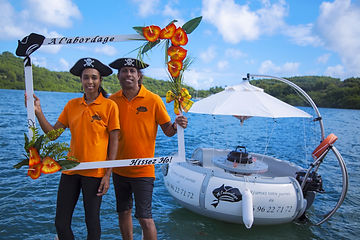 location bateaux sans permis martinique ballade en mer bbq-donut