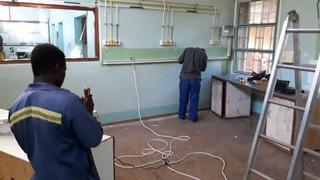Lab construction begins!
