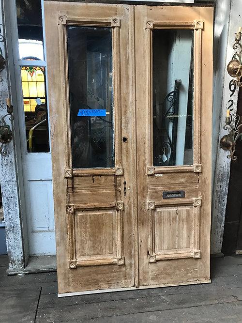 Vintage Victorian Entry Doorspine Double Doors