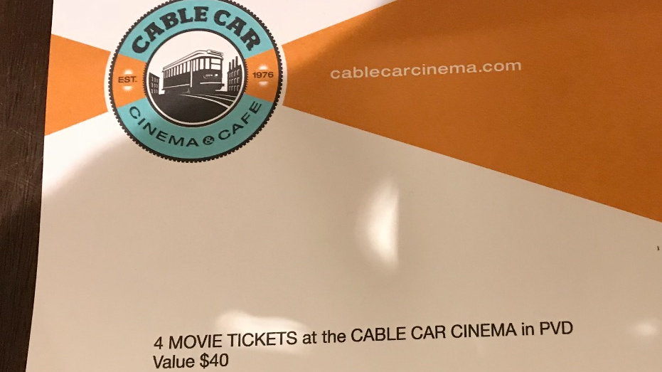 Cable Car Cinema Gift Certificate