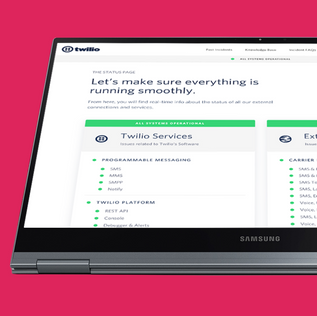 Twilio Status Landing Page