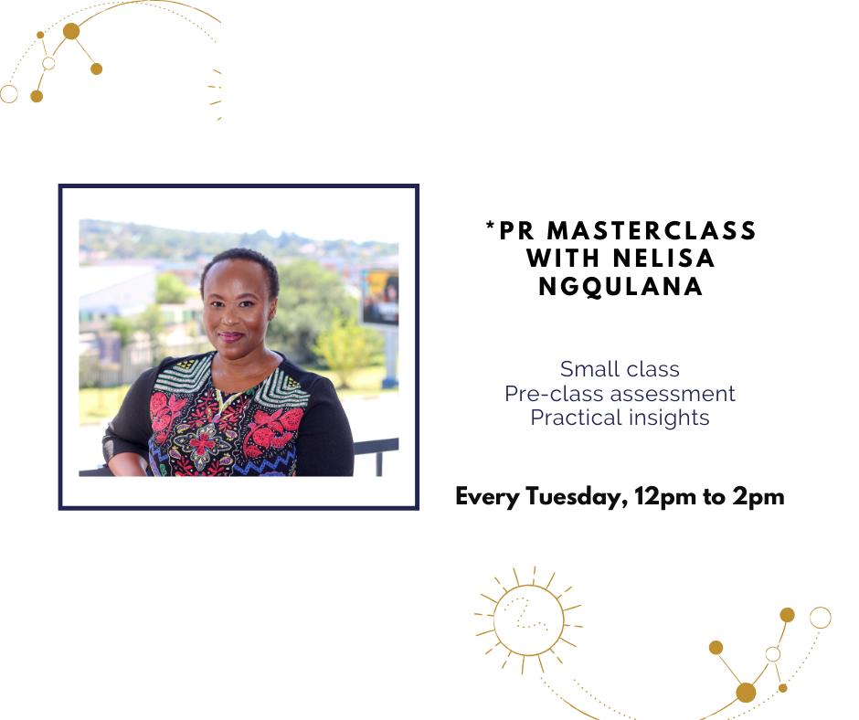 PR Masterclass with Nelisa Ngqulana