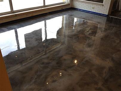 Auto showroom epoxy floor coating