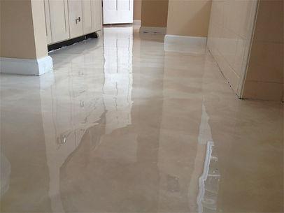 Bathroom floor done with lava flow epoxy