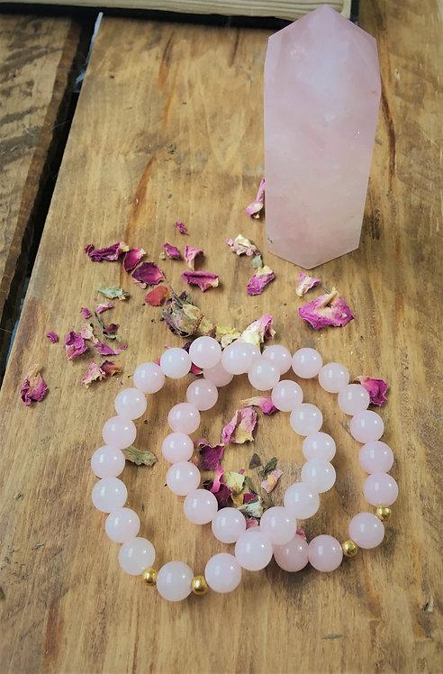 Rose Quartz - Bracelet (Polished)