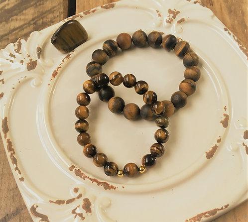 Tiger's Eye - Bracelet (Polished Beads)