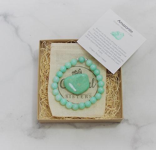Amazonite - Gift Set Bracelet & Loose Stone