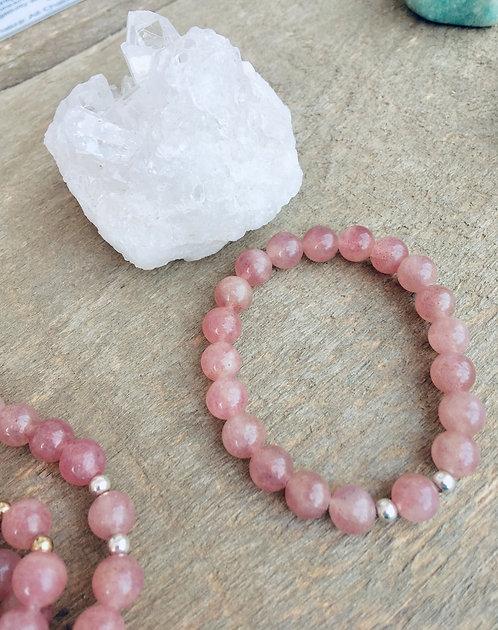 Strawberry Quartz - Bracelet (Polished)