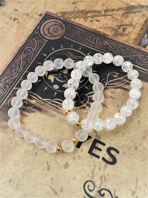Clear Quartz- Bracelet (Frosted)