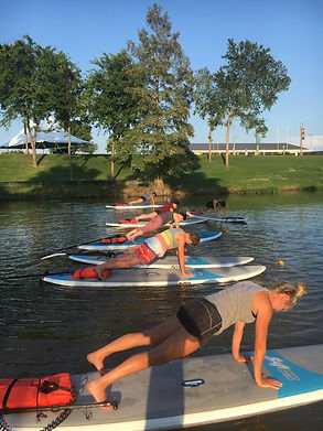SUP Yoga in the cove