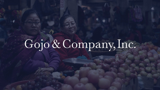 Gojo & Company, Inc. is an enabler of financial inclusion for unserved and underserved communities, investing in and partnering with financial service providers around the world.