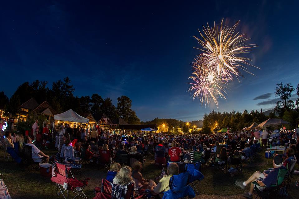 Fireworks in Cashiers by Jackson County
