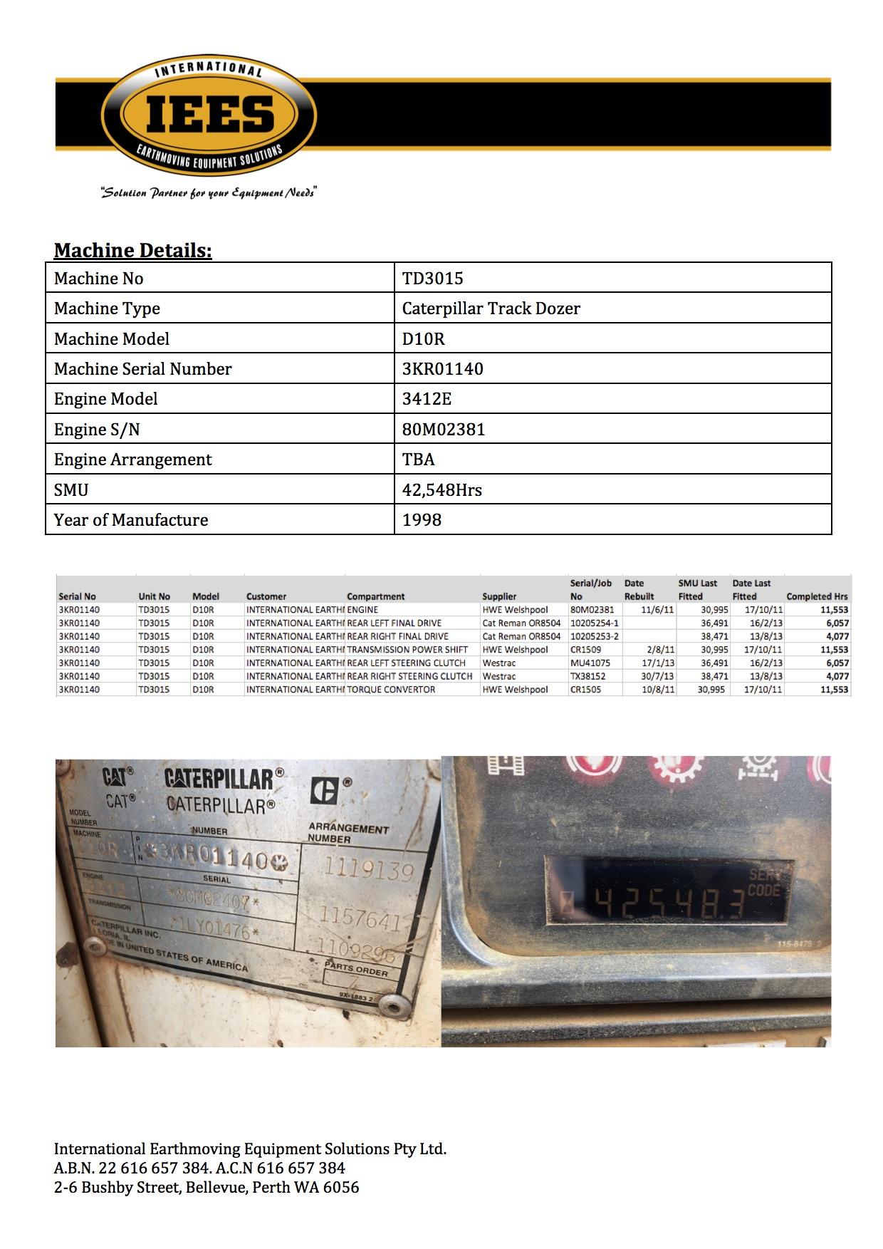 1998 D10R | About | Bellevue | International Earthmoving